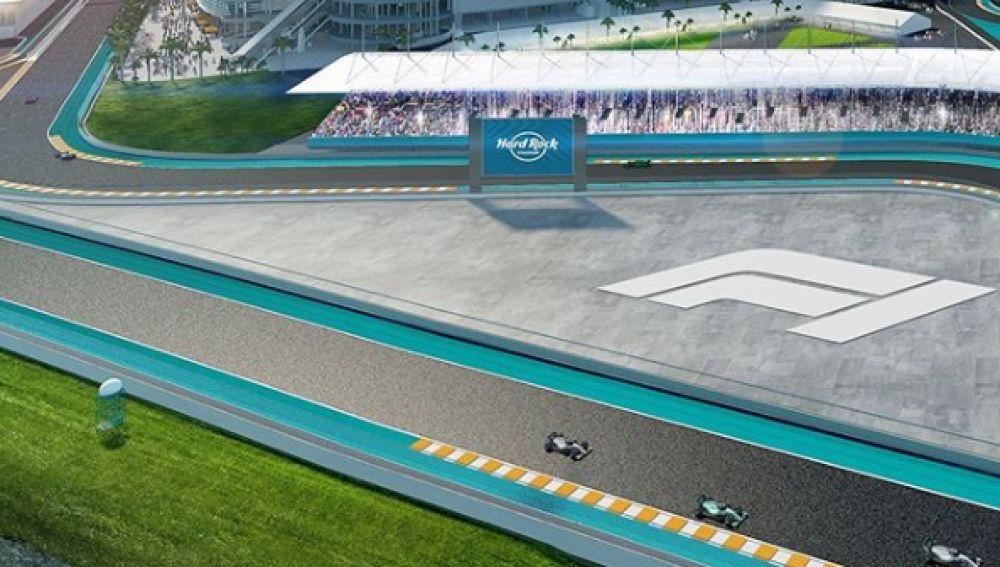 Una imagen de lo que podría ser el circuito de Miami