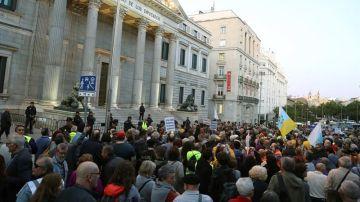 Vista general de los asistentes a la concentración por una pensión digna