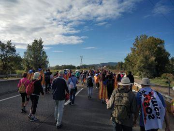 La columna de Vic de las 'Marchas por la Libertad' emprende el camino a Barcelona
