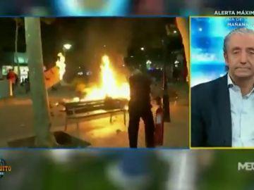 """Josep Pedrerol, hundido por los disturbios en Barcelona: """"Los que dicen que van a salvar Cataluña la van a hundir"""""""