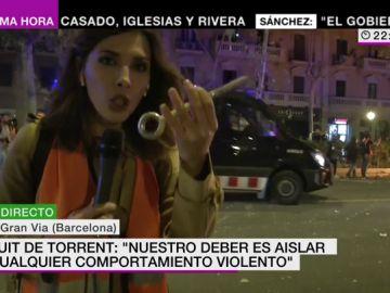 Estos son los objetos que se están lanzando en los disturbios de la Gran Vía de Barcelona