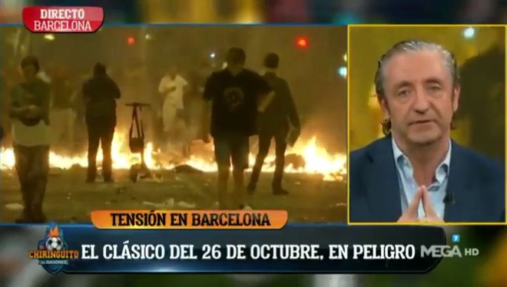 """El mensaje viral de Josep Pedrerol en catalán para arrancar 'El Chiringuito': """"Aguantad"""""""