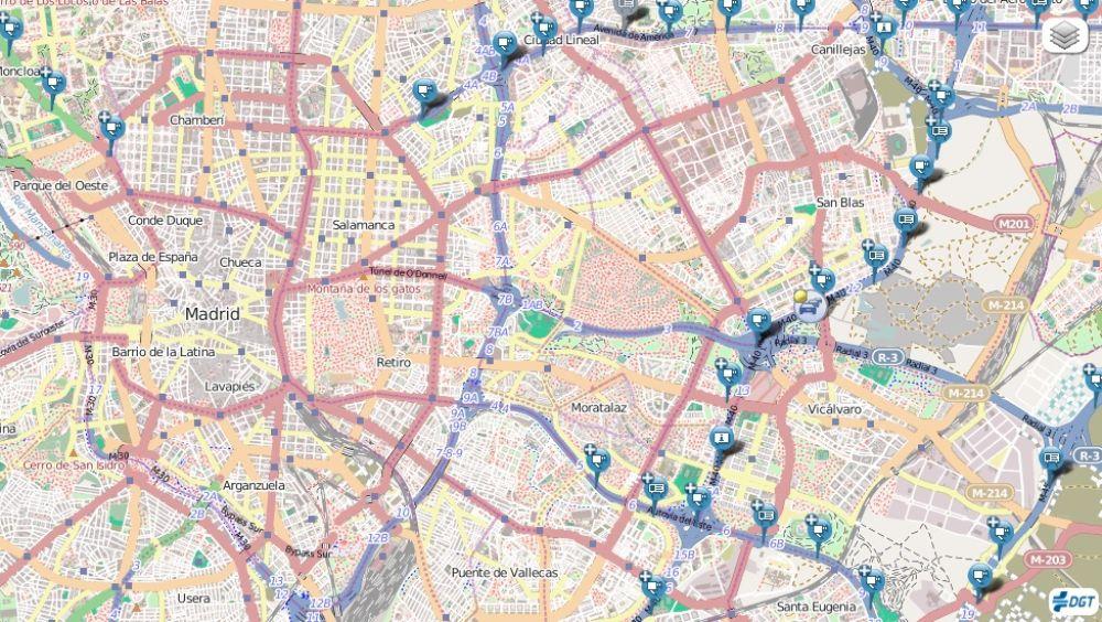 Mapa radares DGT