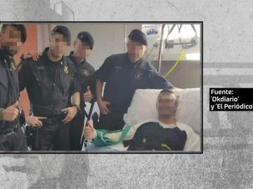 Cuatro mossos desafían a Torra y visitan a los policías heridos