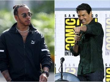 Lewis Hamilton y Tom Cruise