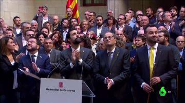 """Torra asegura que el """"compromiso con la autodeterminación no tendrá retorno"""" y Aragonés pide a los alcaldes defender un nuevo referéndum"""