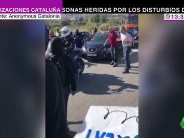 Enfrentamientos entre defensores de la unidad de España e independentistas por el corte de la carreta N340