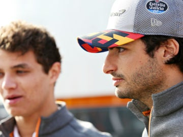 Carlos Sainz y Lando Norris