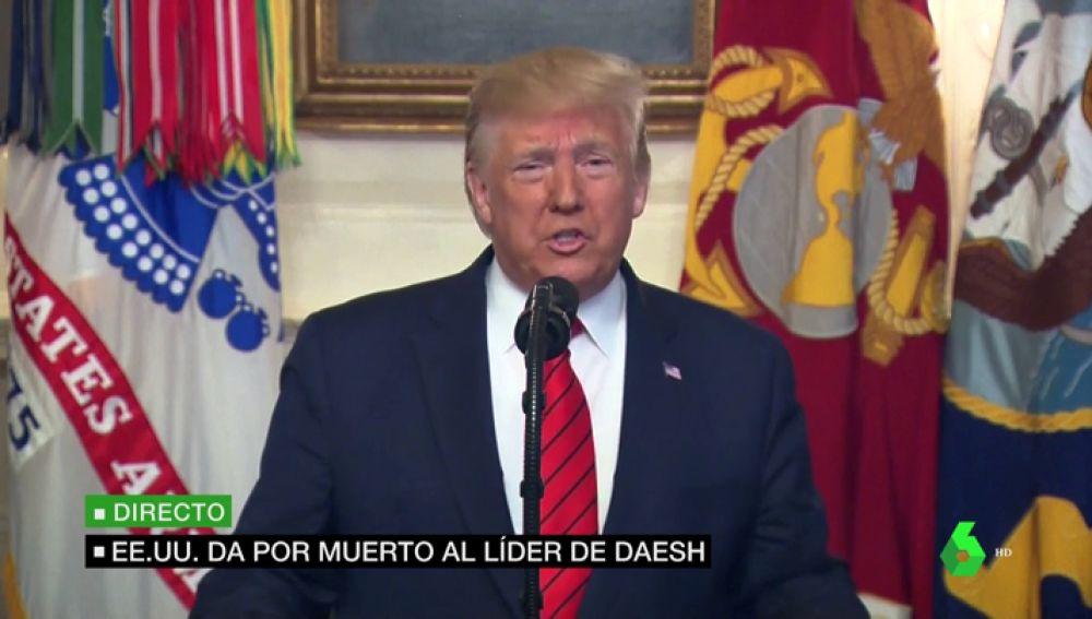 """Trump confirma la muerte de Abú Bakr al Baghdadi, líder de Dáesh: """"Ha sido la máxima prioridad de seguridad de mi administración"""""""