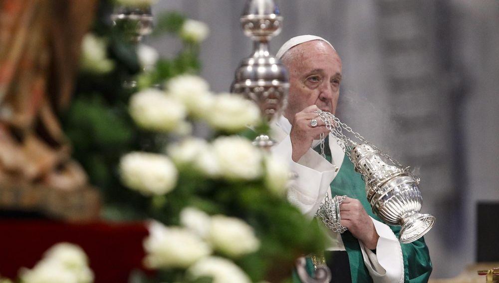 El Papa Francisco durante el Sínodo sobre el Amazonas.