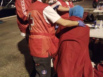 Imagen del rescate de los migrantes que han llegado a las costas de Alicante en patera