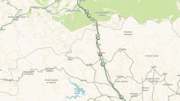 Mapa del estado de las carreteras catalanas en la frontera de La Jonquera