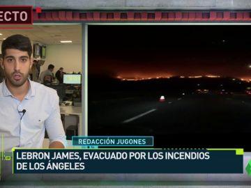 """LeBron James, evacuado por los incendios en California: """"Qué noche loca"""""""