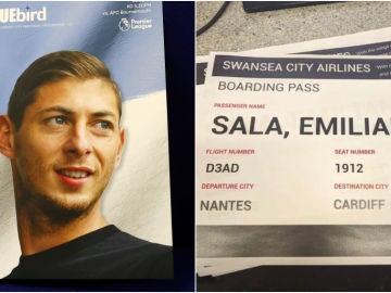 La lamentable tarjeta de embarque que se burla de la muerte de Emiliano Sala