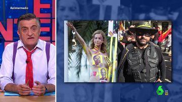 """La imagen de """"la esperanza"""" (o el """"ridículo"""") en Cataluña: la prueba que demuestra """"la gran unión"""" entre independentistas y constitucionalistas"""