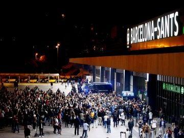 Los CDR tratan de bloquear la estación de Sants, en Barcelona