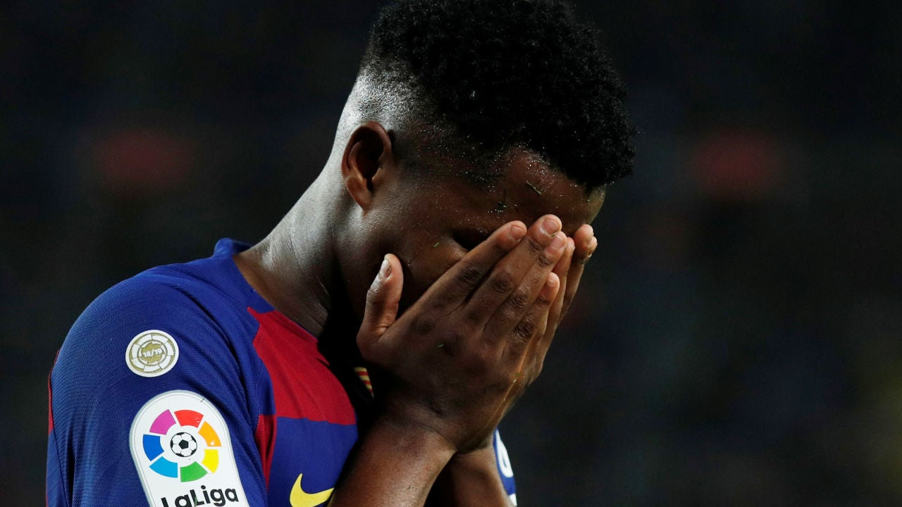 Ansu Fati, contrariado, tras su gris regreso ante el Valladolid