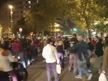 Los CDR cortan dos de las principales avenidas de Barcelona para protestar contra la sentencia del procés