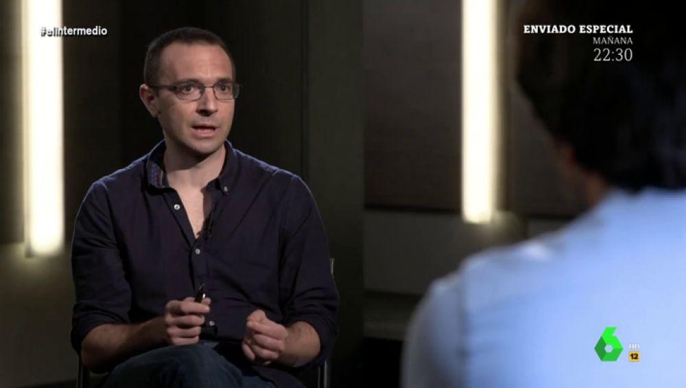 """Luis Alegre: """"No entiendo la obsesión de Pablo Iglesias por entrar en el Gobierno"""""""