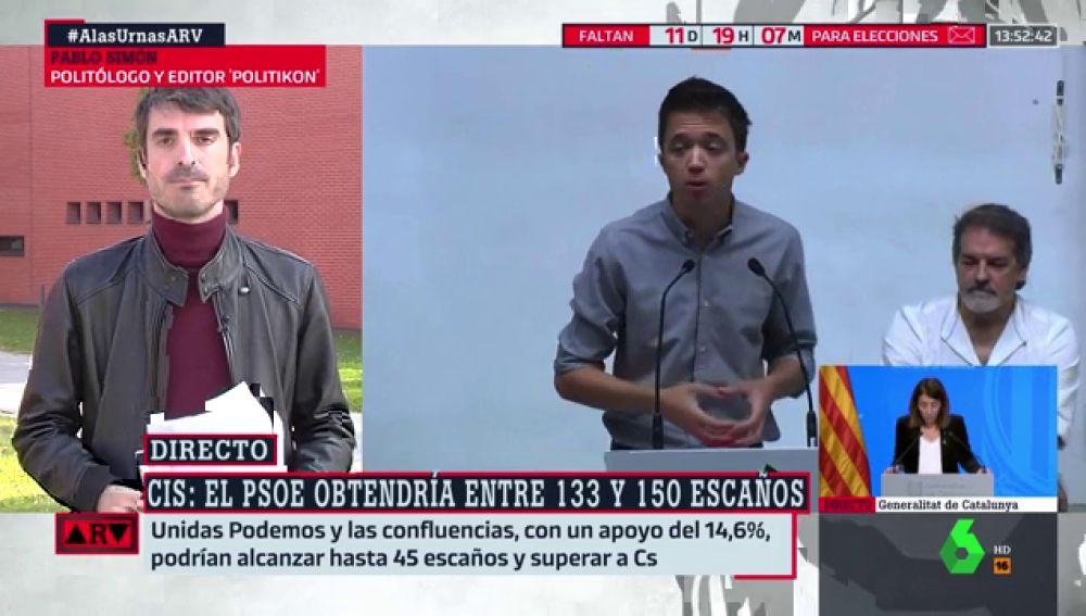 """Pablo Simón: """"La campaña puede ser muy decisiva y haber cambios de última hora"""""""