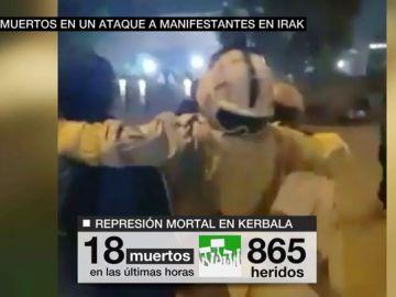 Al menos 18 muertos y 865 heridos en un ataque a manifestantes en Irak