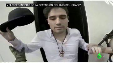 México difunde el vídeo de la detención del hijo de 'El Chapo' Guzmán