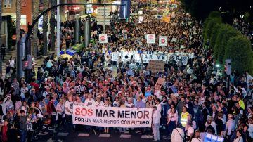 Protesta para salvar al Mar Menor en Cartagena