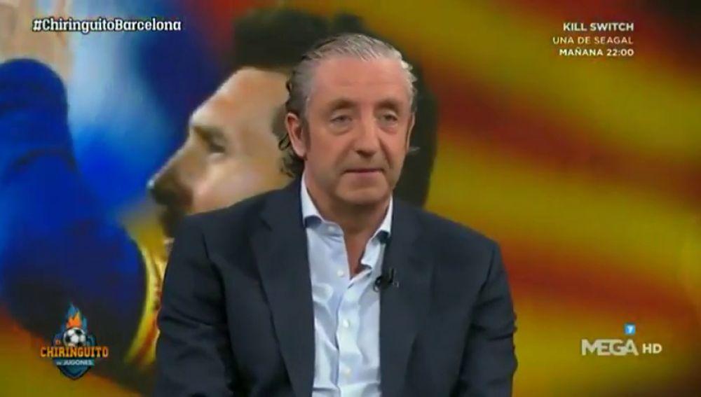 """La reacción viral de Josep Pedrerol cuando independentistas le insultan en el Camp Nou: """"Me han llamado p***"""""""