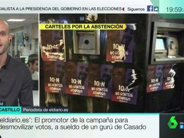 """Carlos del Castillo: """"Tenemos pruebas de que quien ha hecho los anuncios trabaja para el gurú de Pablo Casado"""""""
