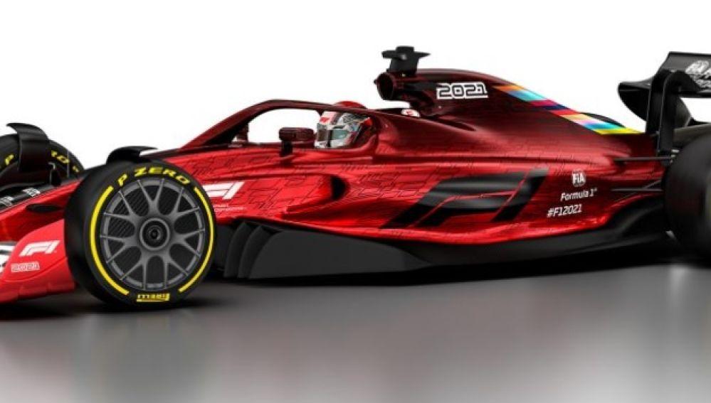 Boceto del nuevo coche de F1 en 2021