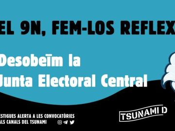 Tsunami Democràtic llama a la movilización el 9 de noviembre