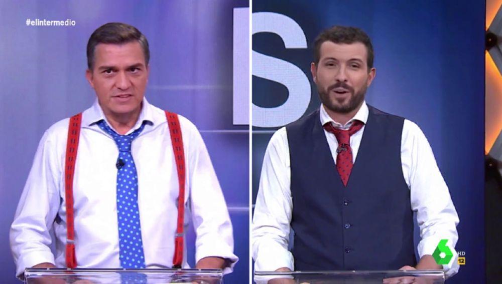 """El intenso 'Debate por la cara' entre Sánchez y Casado: """"Yo no pienso pactar con nadie, voy a elecciones hasta que me salga mayoría"""""""