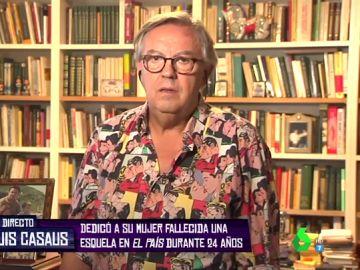 La historia de José Luis Casaus, el hombre que dedicó esquelas a su mujer fallecida durante 24 años