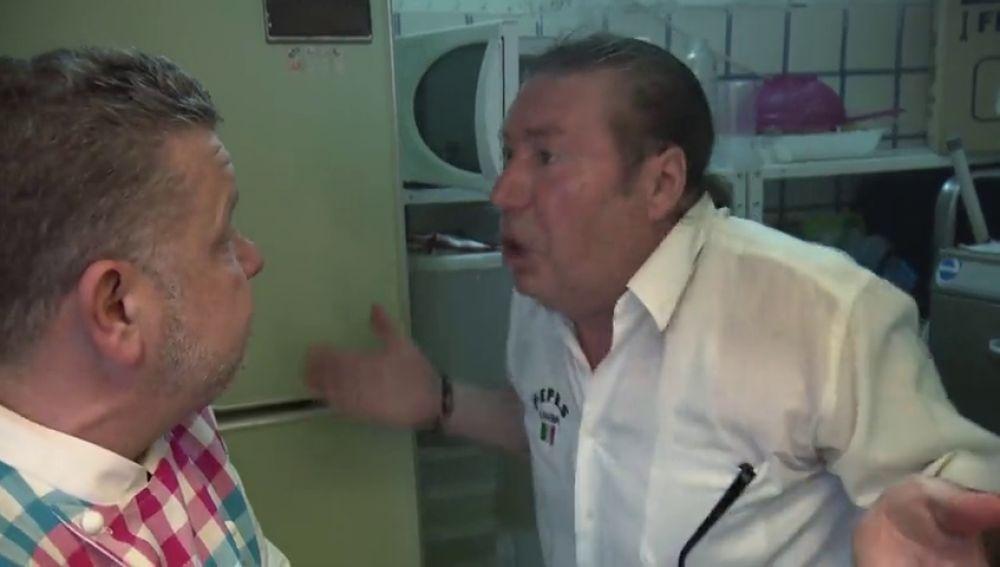 """La respuesta de Pepe a la presión de Alberto Chicote en el Pepe's Cantina: """"¿Te tapo la boca?"""""""