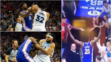La pelea entre Embiid y Towns que avergüenza a la NBA