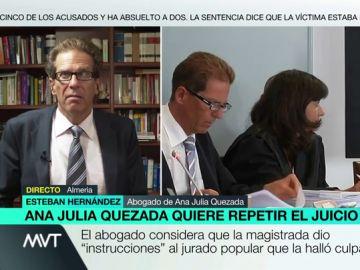 """Esteban Hernández, abogado de Ana Julia: """"Es difícil para un tribunal evitar la presión mediática, y más si es un jurado"""""""