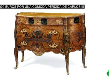 La intrahistoria de la cómoda desaparecida del rey Carlos III: Patrimonio Nacional la ha recuperado por 400.000 euros