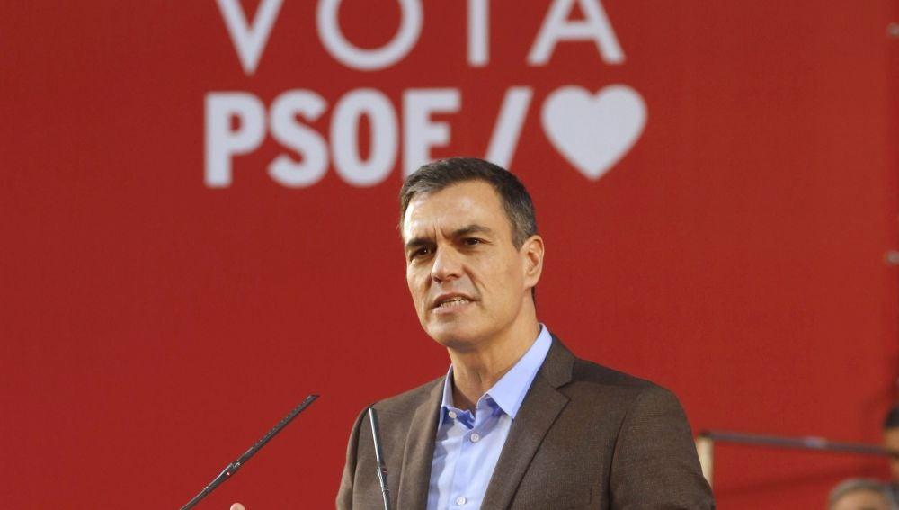 Pedro Sánchez, en un acto en Pamplona