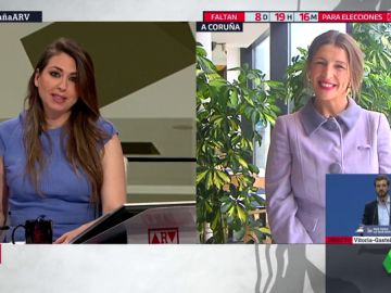 La candidata de Galicia En Común al Congreso, Yolanda Díaz
