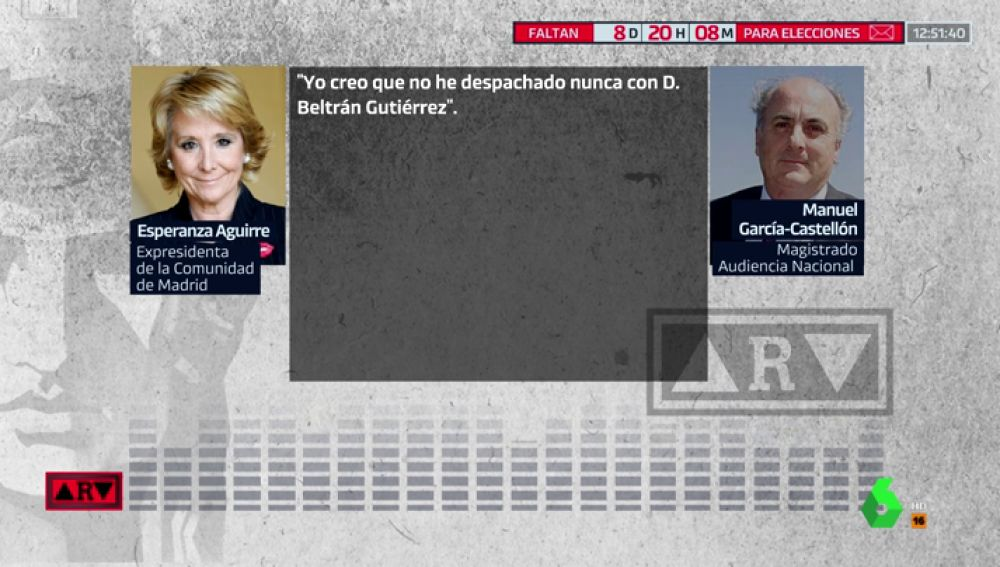 Los audios de Aguirre ante el juez: se desmarca de la financiación del PP de Madrid y señala al gerente