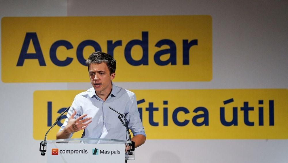 Íñigo Errejón en un acto electoral en Valencia