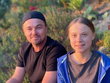 Leonardo DiCaprio y Greta Thunberg