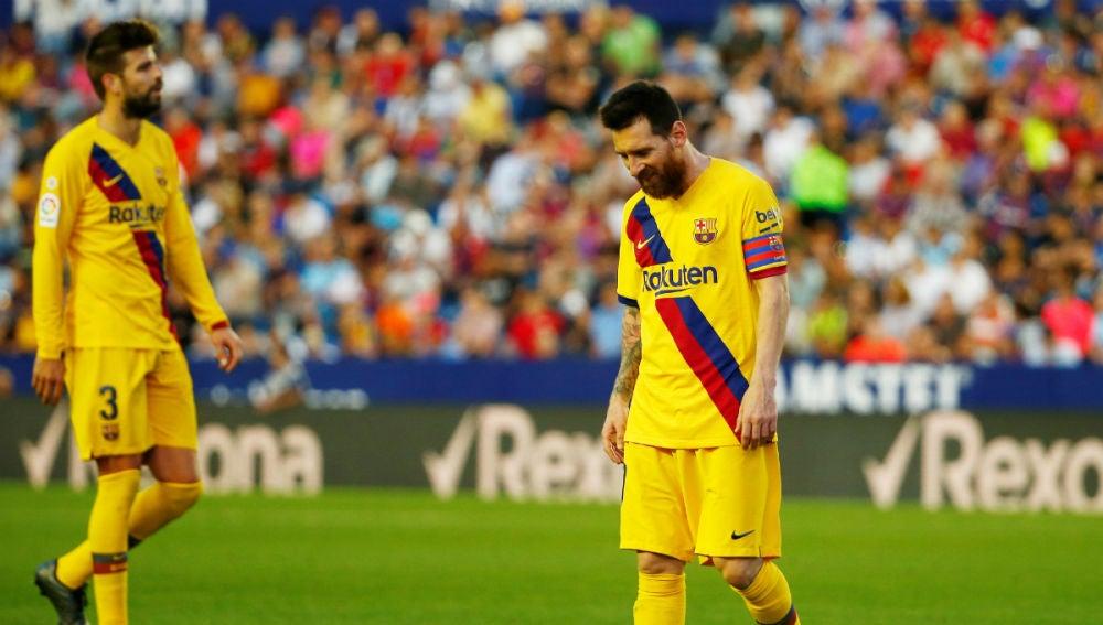 Lionel Messi, cabizbajo