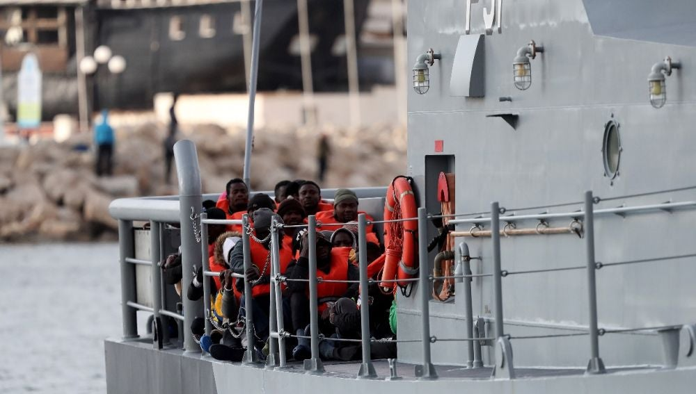 Imagen de migrantes en el Alan Kurdi