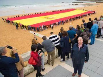 Imagen de la bandera española más grande del mundo