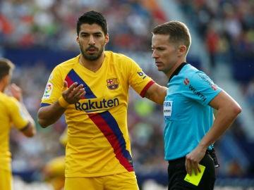 Luis Suárez, en un partido