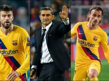 Piqué, Valverde y Griezmann