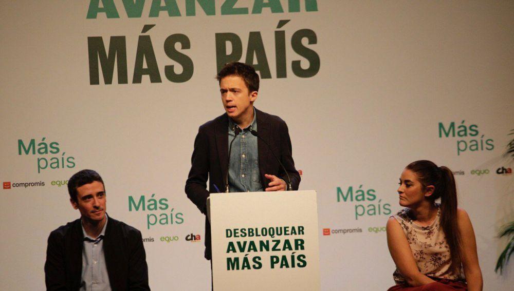 Íñigo Errejón, en un mitin de Más País en la campaña del 10N