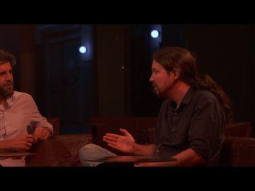 Pablo Iglesias con Gonzo en Salvados