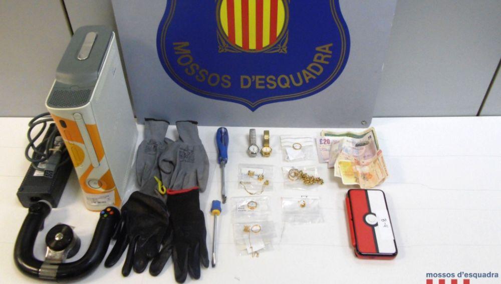 Material que usaban los ladrones para robar
